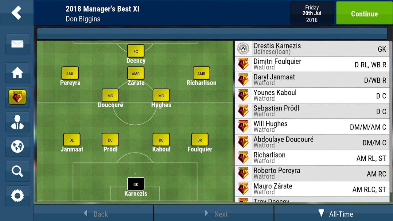Football Manager Mobile 2018 9.0.3 (ARM) Screen 2