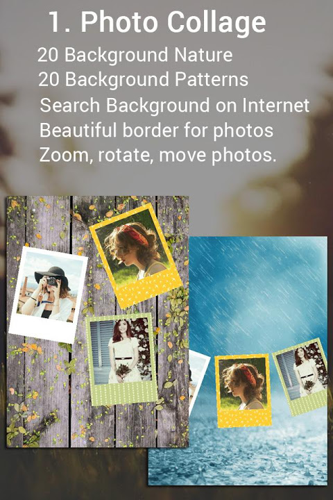 Android Fotos - Photo editor & Collage Screen 1