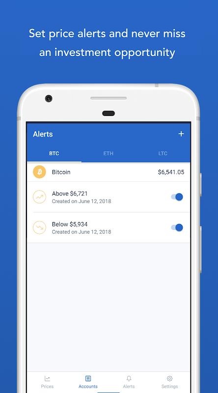 Android Bitcoin Wallet - Coinbase® Screen 4