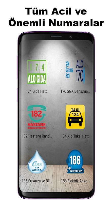 Android Acil Önemli Numaralar Screen 5