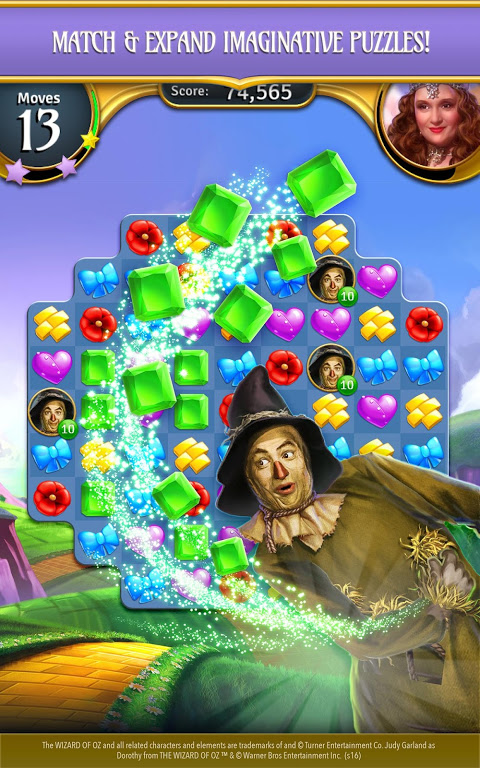 Android The Wizard of Oz Magic Match 3 Screen 8