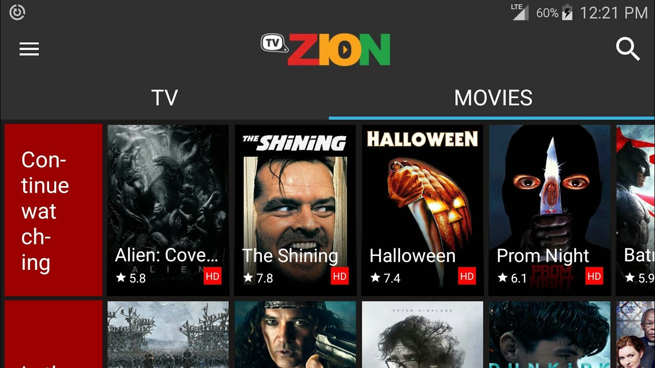 Android TVZion Screen 3