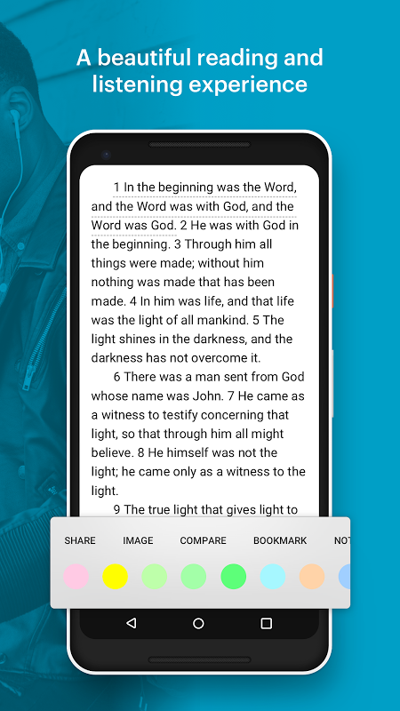 Android Bible: Daily Verse, Audio Bibles and Devotionals Screen 1