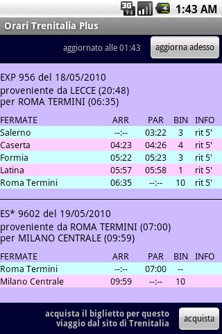 Android Orari Trenitalia Plus Screen 1