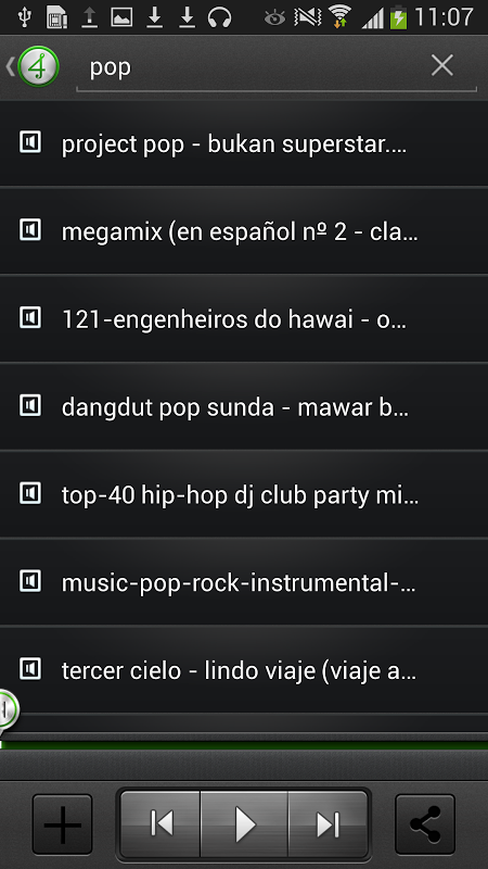 Android 4shared Music Screen 2
