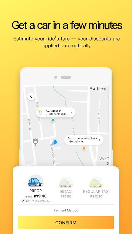Android 99 - Taxi and private drivers Screen 1