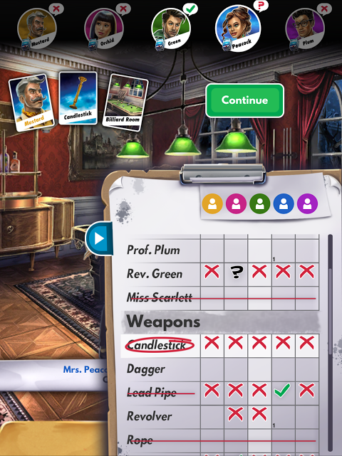 Android Cluedo Screen 7