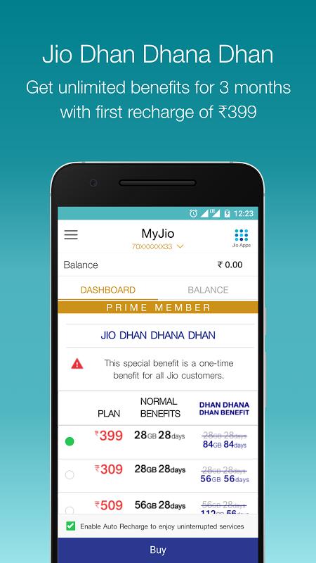 MyJio 4.1.01 Screen 6
