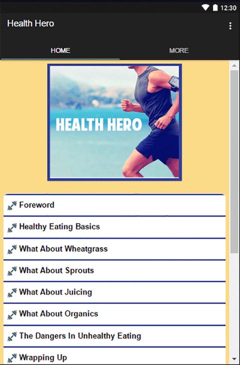 Android Health Hero Screen 1