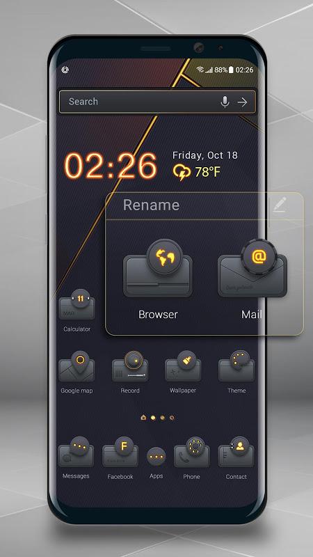 Golden&black launcher theme &wallpaper release_2.0.9 Screen 2