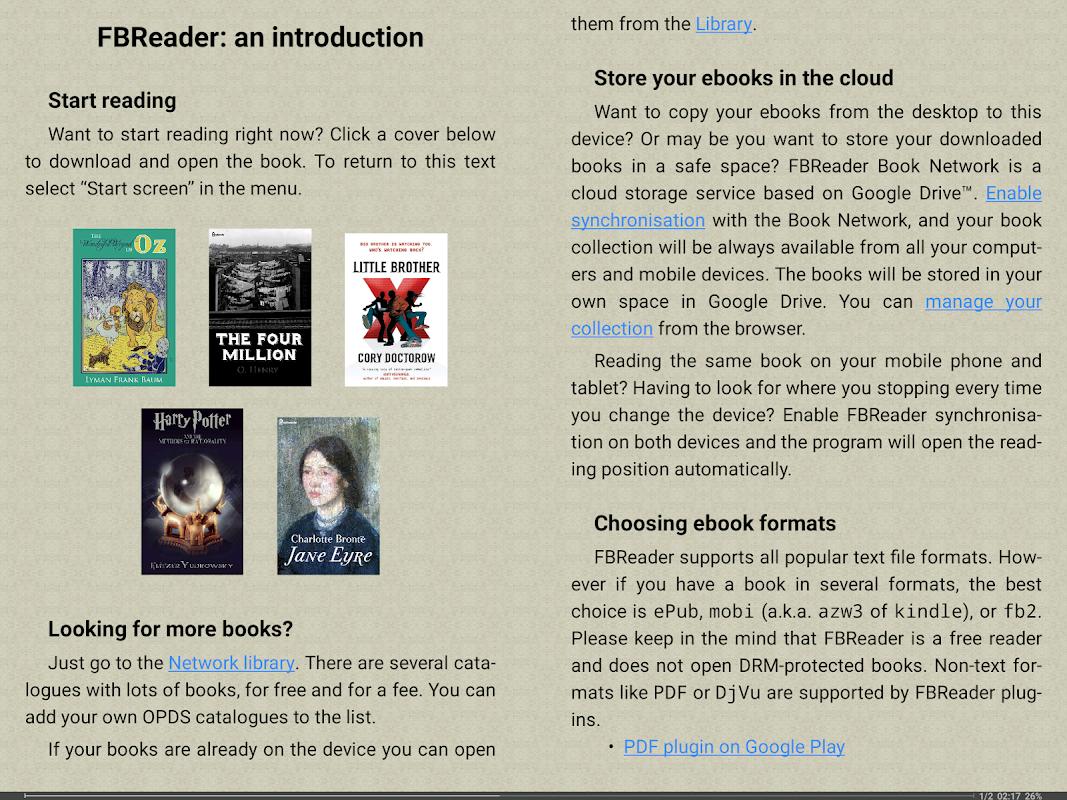 FBReader: Favorite Book Reader 2.9.2 Screen 15