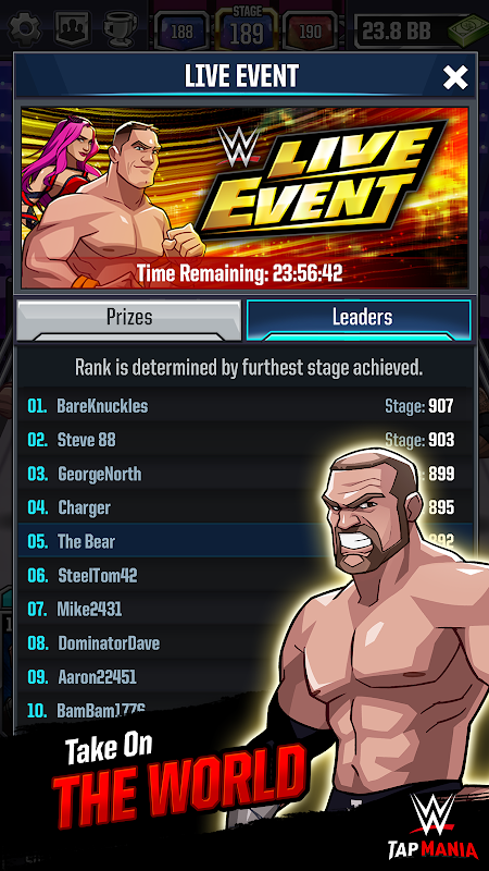 Android WWE Tap Mania Screen 4