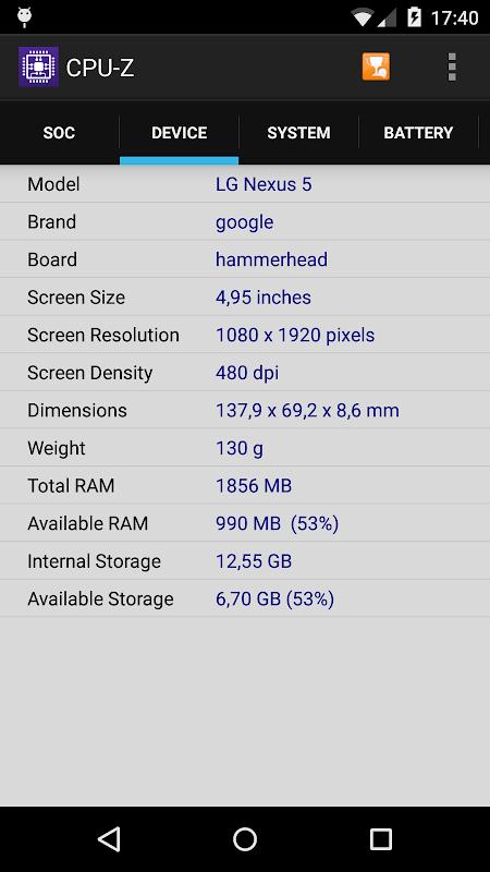 CPU-Z 1.32 Screen 1