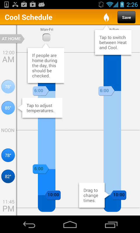 Android EnergyHub Thermostat Screen 4