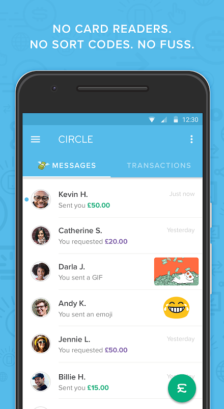 Android Circle Pay — Send money free Screen 1