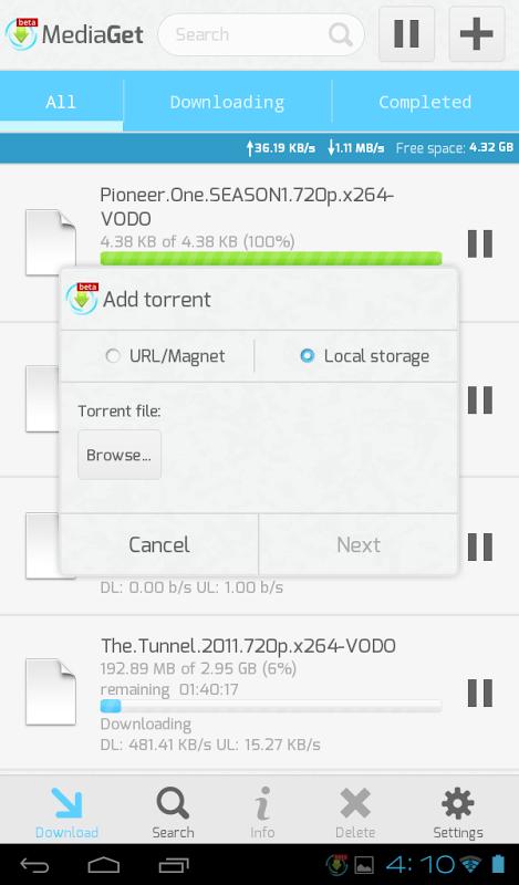MediaGet 0.9.1 Screen 10