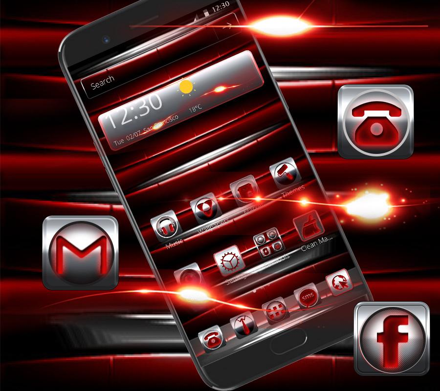 Red Iron Icons Theme 1.1.3 Screen 2