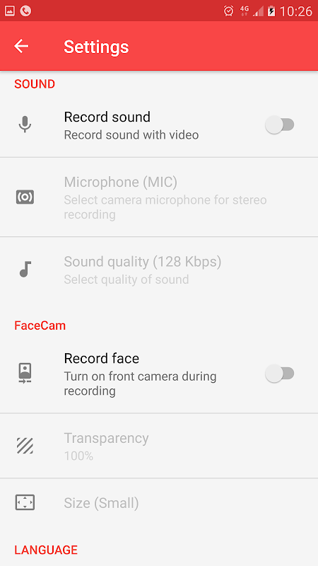 Android Screen Recorder License Screen 5
