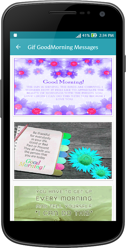 Android Gif Good Morning Messages Collection Screen 9