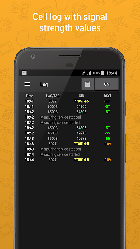 Cell Signal Monitor - mobile networks monitoring 5.1.1 Screen 2