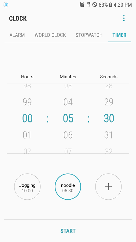 Android Samsung Clock Screen 4