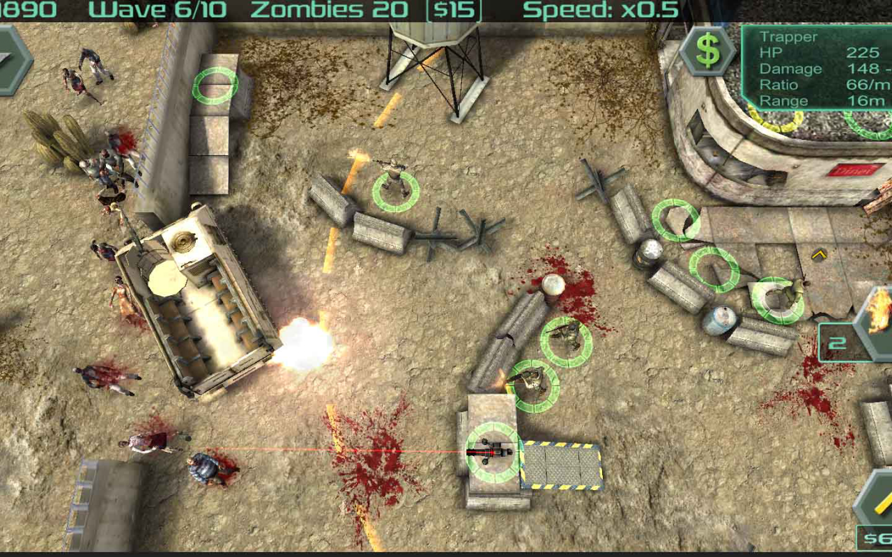 Android Zombie Defense Screen 5