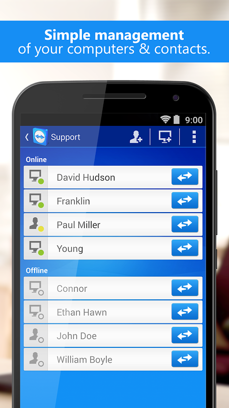 Android TeamViewer Screen 4