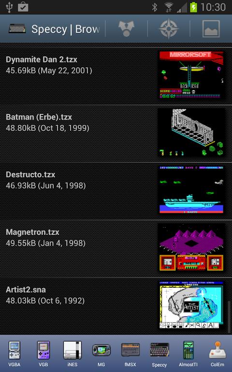 Speccy - ZX Spectrum Emulator 3.3.3 Screen 10
