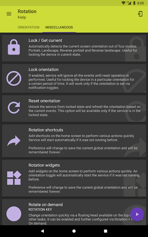 Android Rotation - Orientation Manager Screen 11