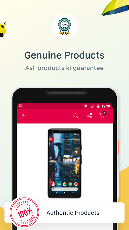 Android Online Shopping App – Snapdeal.com Screen 1