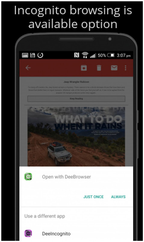 Android Dee Browser - Blocks Ads Screen 3