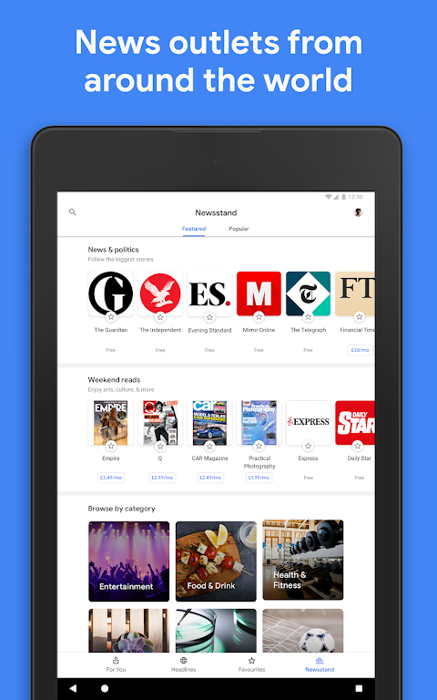 Google Play Newsstand 5.5.0 Screen 7
