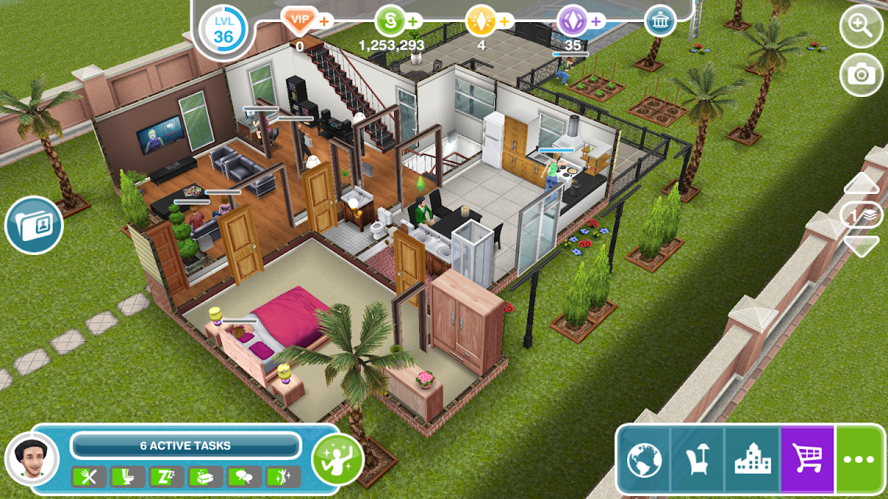 Android The Sims FreePlay Screen 4