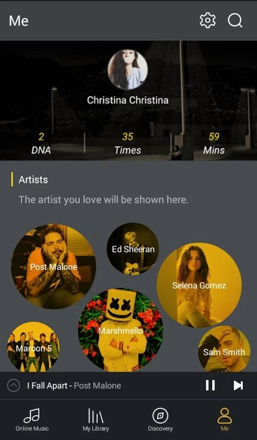 Android GO Music Player PLUS -Free Music,Themes,MP3 Player Screen 2
