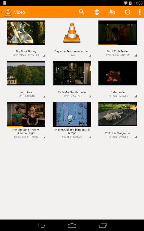 Android VLC for Android Beta Screen 3