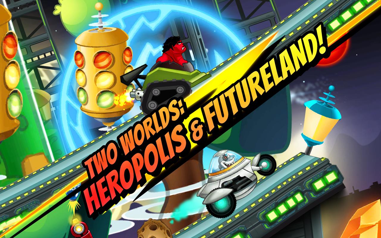 Android Superheroes Car Racing Screen 4