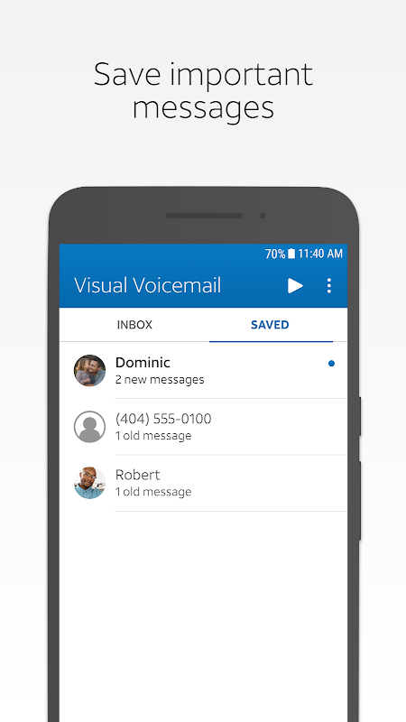 AT&T Visual Voicemail 4.3.0.0007 Screen 2