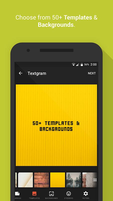 Android Textgram - write on photos Screen 2