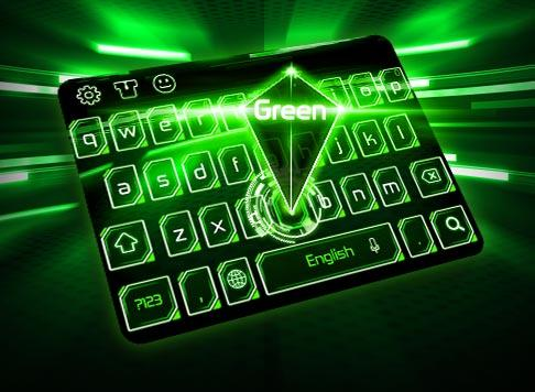Android Green Light Keyboard Screen 1