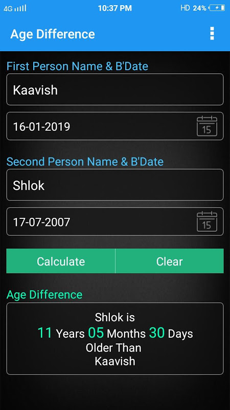 Age Calculator 6.1 Screen 1