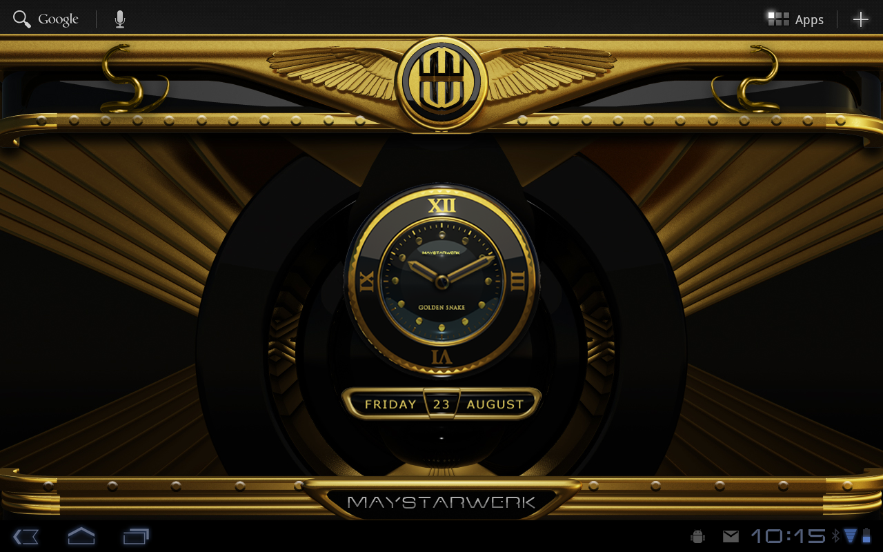 Android Gold Snake Clock widget Screen 7