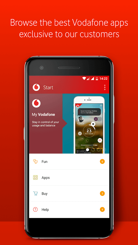 Android Vodafone Start Screen 1
