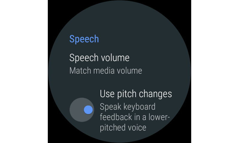 Google TalkBack 5.2.1 wear Screen 2