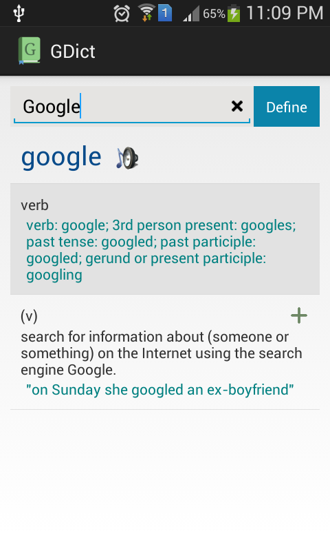 GDict - Google Dictionary Alternative for Android 2.5 Screen 3