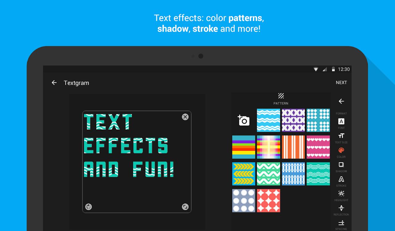 Android Textgram - write on photos Screen 20