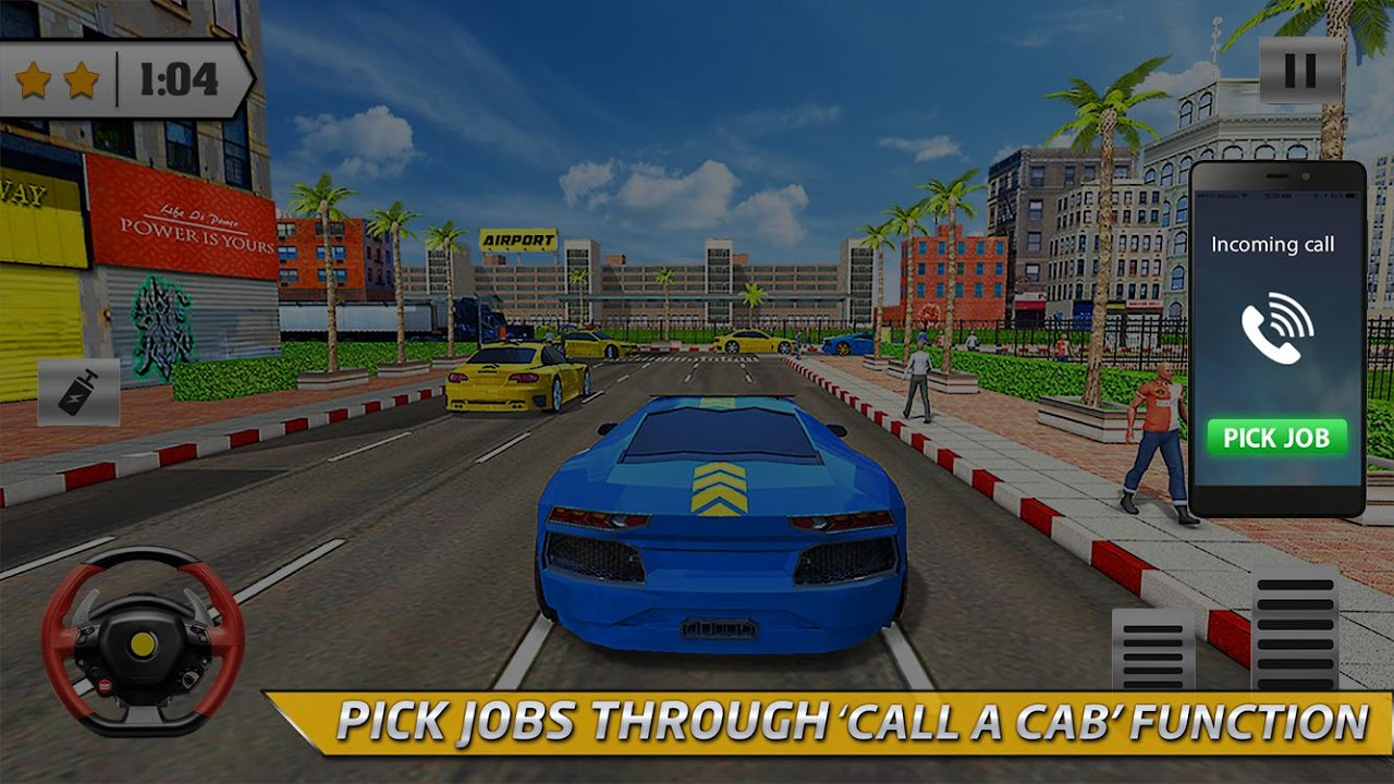 Android Taxi Driver 3D Simulator Game Screen 2