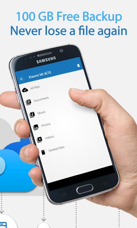 Android 100GB Free Cloud Storage Degoo Screen 1