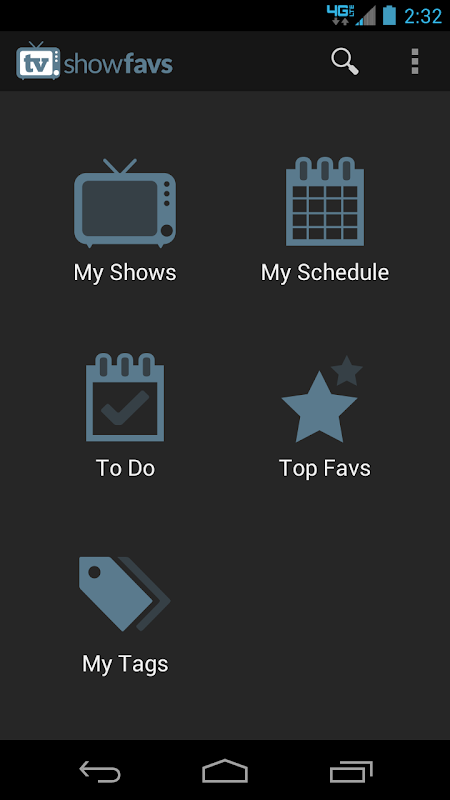 Android TV Show Favs Screen 6
