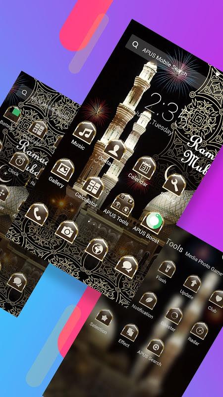 Android Ramadan-APUS Launcher theme Screen 1