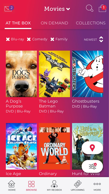Redbox 7.10.0 Screen 1